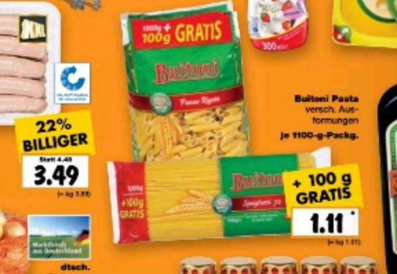 Buitoni 1100 g  Packung für 1,11 bei Kaufland