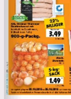 5Kg Sack Zwiebeln 1,49 Kaufland