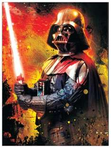 [Amazon] Kunstdruck auf Holzpaneel mit Darth Vader, 46 * 62 cm, für 21 €