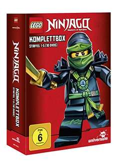Lego Ninjago Komplettbox Staffel 1 - 5, 10 DVD´s für 34,97€ bei [Amazon]