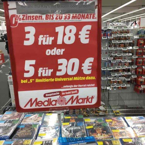 [Media Markt] Porta Westfalica BluRay 3 für 18€ oder 5 für 30€