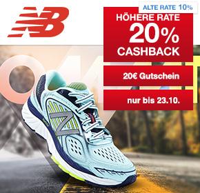 New Balance: 20% Cashback + 20€ Gutschein bei Shoop