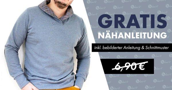 GRATIS statt 6,90 € / Schnittmuster / Männerpullover