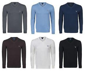 GANT Herren V- Neck Feinstrick Sweater Pullover