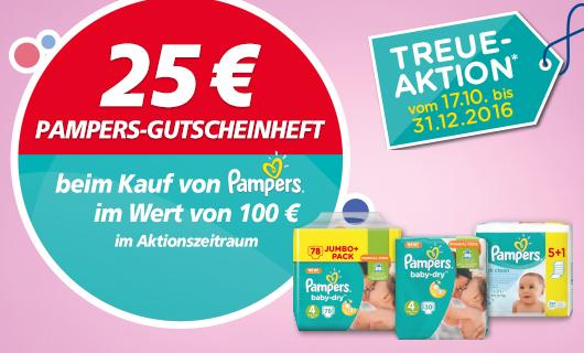 [REAL] 25€ Gutschein-Cashback auf Pampers bei Real ab 100€ Windeleinkauf ~11€ pro Paket
