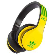 adidas Originals by Monster Headphones (3-Button Control Talk & Passive Noise Cancellation) in gelb und weiß (zavvi)