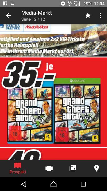 [Lokal Berlin und Brandenburg] GTA 5 für PS4 und Xbox One jeweils 35,- €
