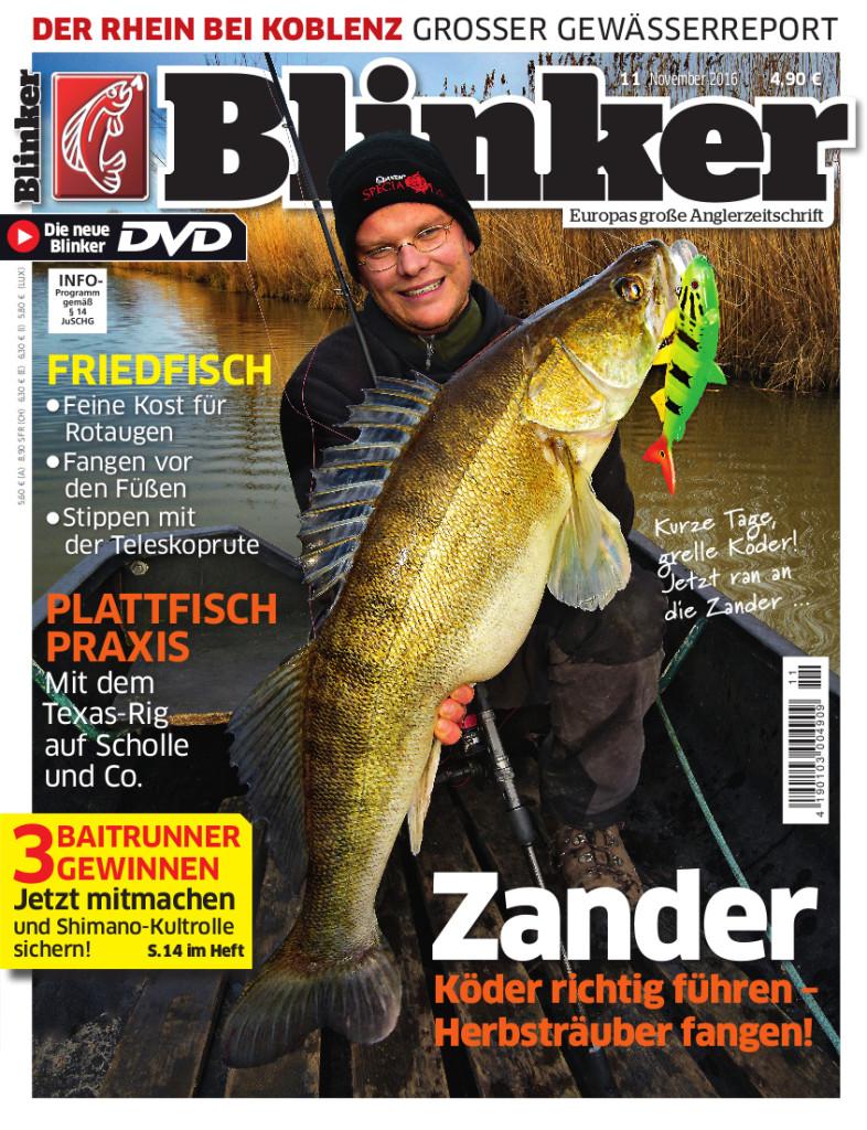 Blinker inkl. DVD  - Anglerzeitschrift für 7,95€ im Jahr (12 Ausgaben) - Direktpreis