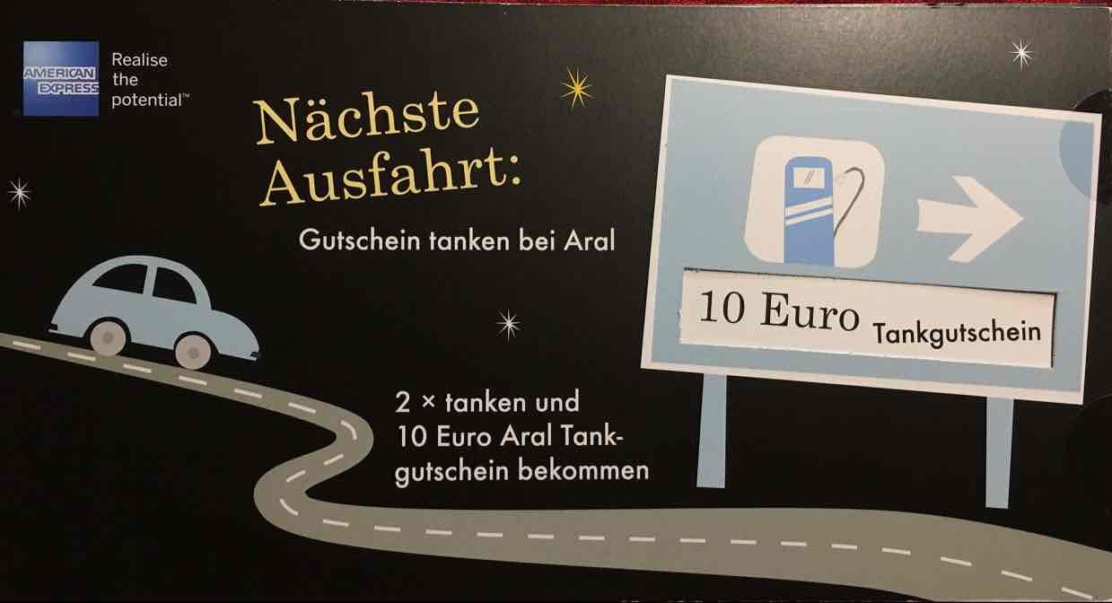 American Express 10€ Aral Gutschein