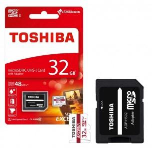 Toshiba Exceria microSD Class 10 / U1 mit 32GB für 8,03€ [7DayShop]