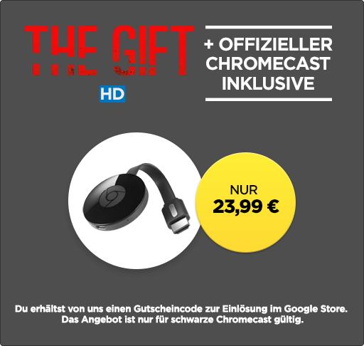 Google Chromecast 2 + »The Gift« für 22,99 € bei wuaki.tv