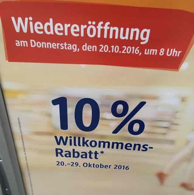 DM Münster York Ring 10% Neueröffnung nach Renovierung