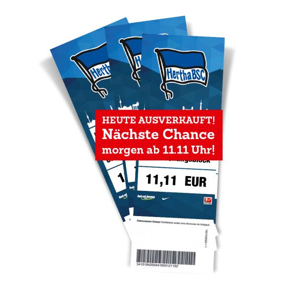 Morgen ab 11:11 Uhr - Zum Spitzenspiel Hertha BSC vs 1.FC Köln im Überraschungsblock für 11,11 EUR