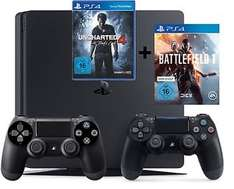 [Ebay Saturn] PS4 Slim 1TB + BF1 + Uncharted 4 + 2 Controller