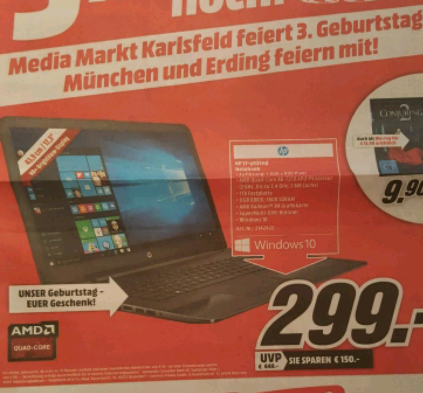 HP 17-y032ng Notebook (MediaMarkt München)