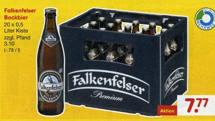 [Netto MD] - Falkenfelser Bockbier Euro 7,77 pro Kiste - ab 27.10.2016