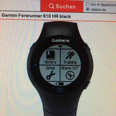 Garmin Forerunner  610 HR (Brustgürtel), GPS, *Offline* Runners Point