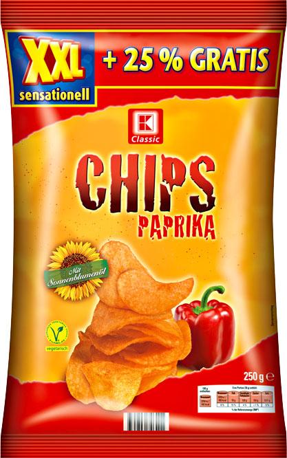Kaufland: XXL Paprika Chips 250g-Beutel für nur  0,59€ (=33% günstiger) bis 26. 10. 2016