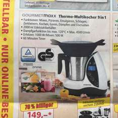 Gourmetmaxx Thermo-Multikocher 9 in 1. Thermomix alternative bei Norma 149,-€