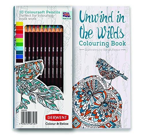Amazon (Plus-Produkt): Dewent Ausmalbuch für Erwachsene inkl. 10 Coloursoft Stiften