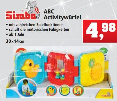 Simba ABC Activitywürfel 1+ für 4,98€ [Thomas Philipps]