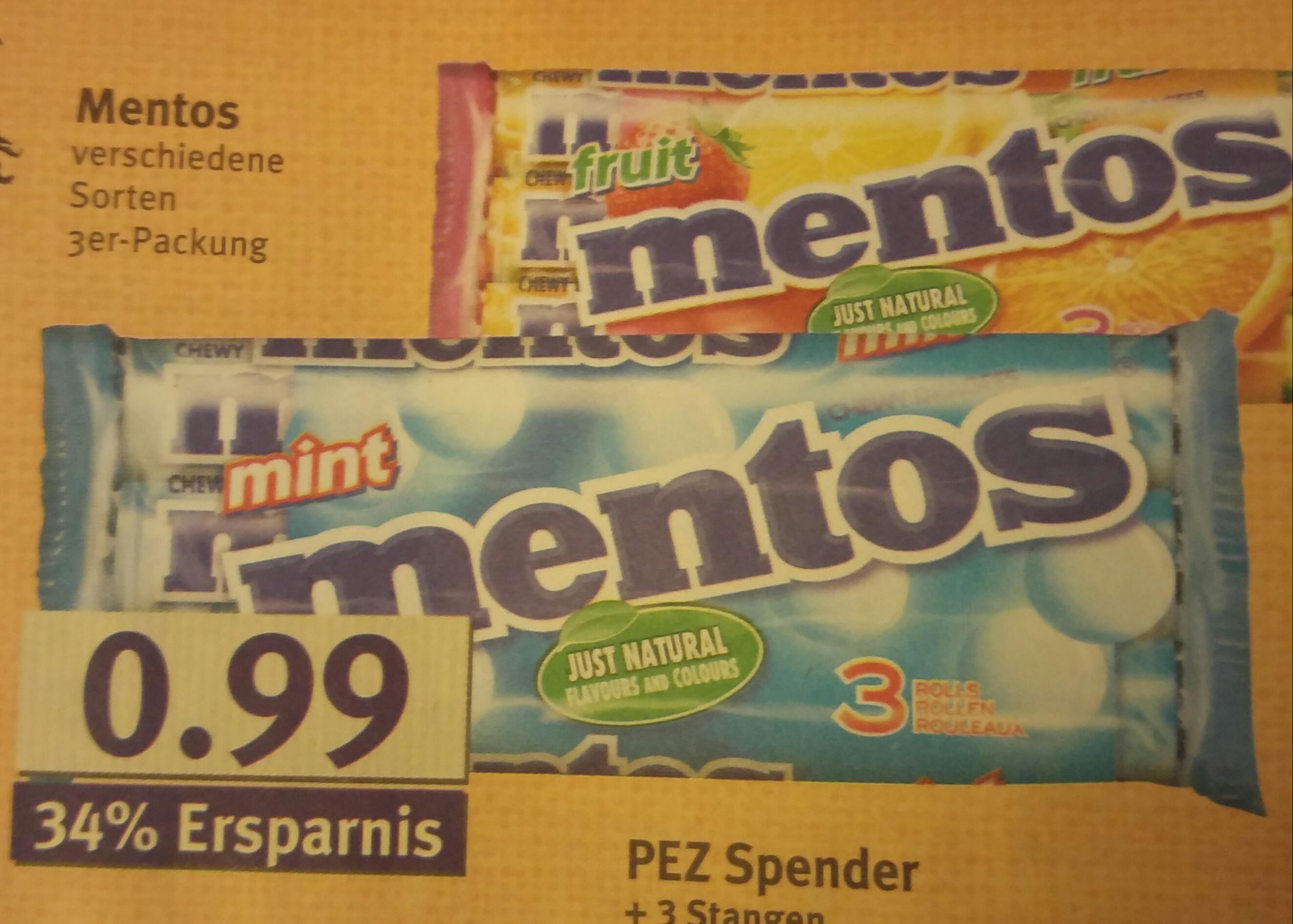 Combi/Jibi Mentos 3er Pack mit Scondoo für nur 49 Cent