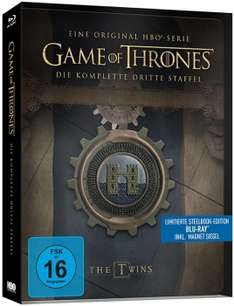 Game of Thrones 3 Steelbook nur 20,94 Euro PVG 29,55, Staffel 4 27,94