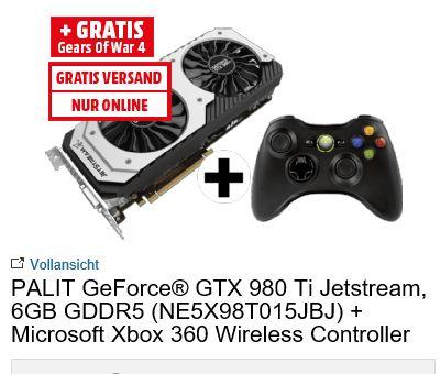 [Mediamarkt Österreich] Palit XpertVision GeForce GTX 980 Ti Jetstream 6144MB GDDR5 + Xbox 360 Controller für 346,-€ Update...Wieder verfügbar