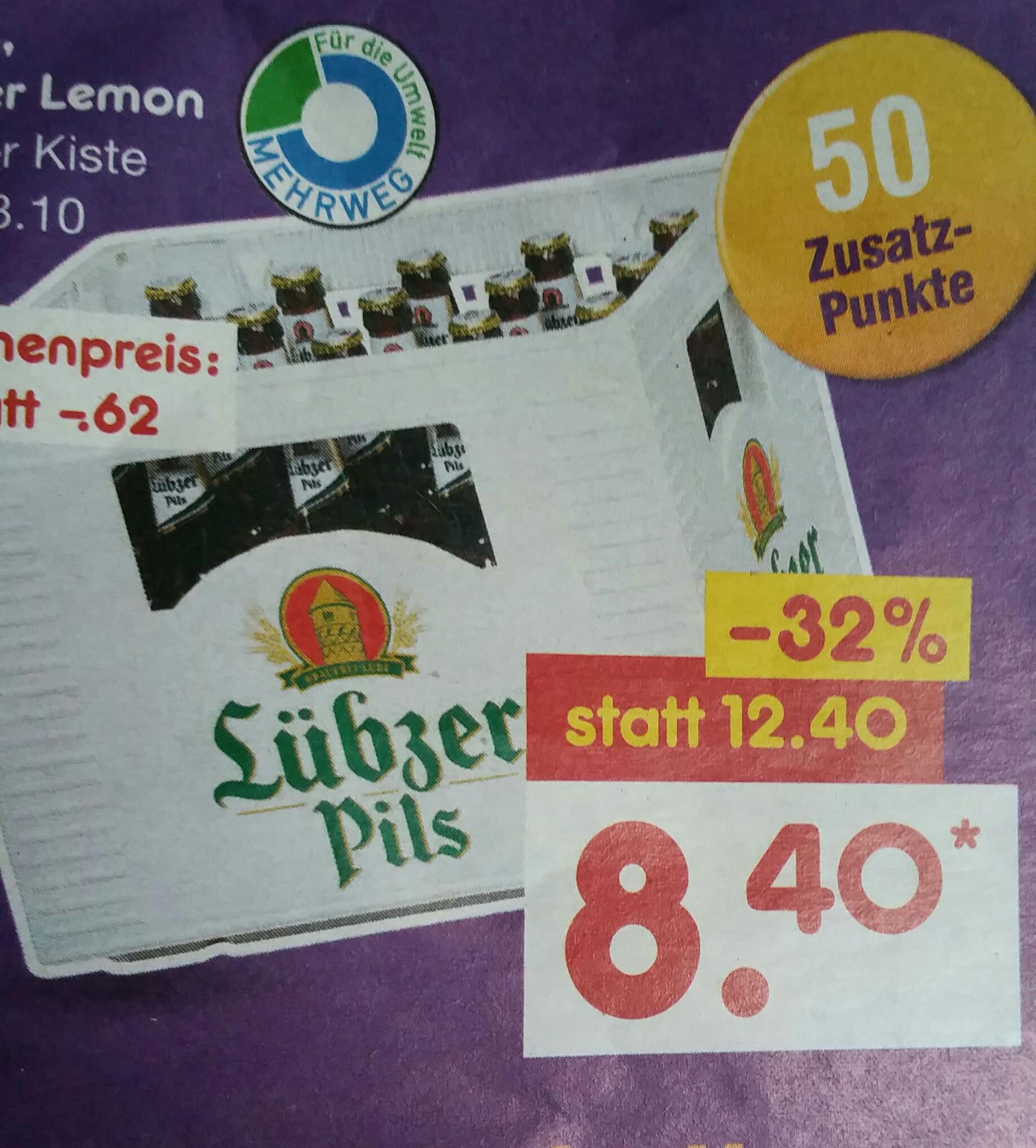 [LOKAL MV]Freitag 28.10. 20er Kasten Lübzer Pils für eff. 7,50€ bei Nutzung der Deutschlandcard @NettoMD