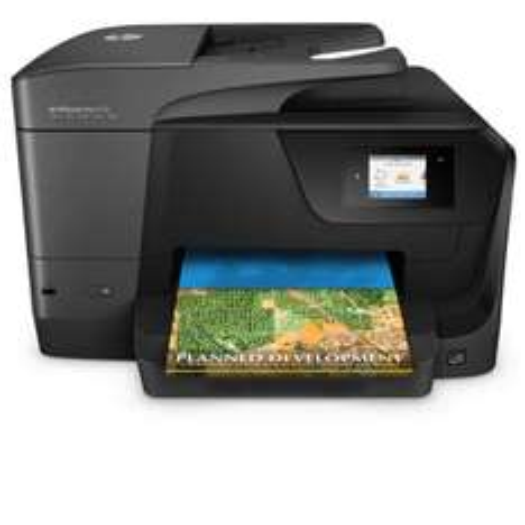 Amazon HP OfficeJet Pro 8710 Multifunktionsdrucker (A4, Drucker, Scanner, Kopierer, Fax, WLAN, LAN, Duplex, USB, 1200 x 1200 dpi) schwarz für 118,90 Euro