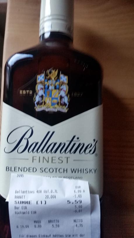 (Lokal) Ballantines  0,7 für 6,99 beim Netto in Bad Honnef