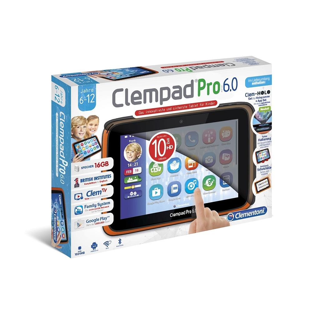 Android Tablet für Kinder: Clempad PRO 6.0, 16GB von Clementoni + Kopfhörer + Füllartikel für 48,83€ inkl. VSK statt ca. 160€ bei [ToysRUs]