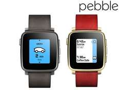 [@ibood] Pebble Time Steel Smartwatch in schwarz oder gold