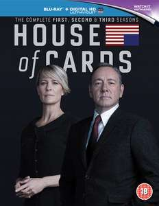 House Of Cards - Staffel 1-3 Blu-ray (Zavvi) in dt. Sprache