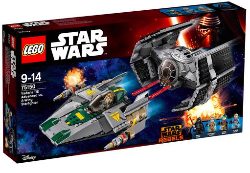 LEGO Star Wars 75150 Vader's TIE Advanced vs. A-Wing Starfighter für 69,79€ bei [windeln.de]