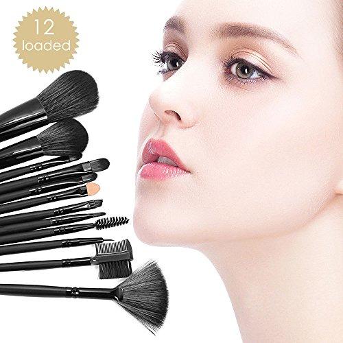 12er Pack Make-up Bürsten und Pinsel für Gesicht und Augen ab 6,88€
