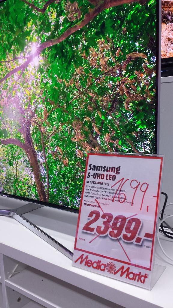 Samsung 55 KS 8090 [Lokal: Media Markt Köln City Dom] für 1699€