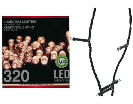LED Lichterkette, 320 LEDs, für innen & außen, Weihnachten Deko, 27 Meter, inkl. Adapter IP 44