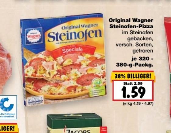 Kaufland ab Donnerstag Wagner Steinofen Pizza versch. Sorten 1,59€