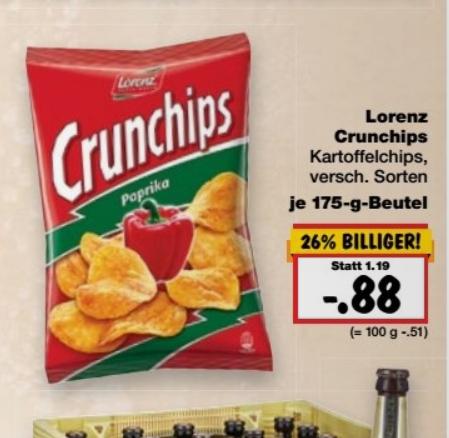 Kaufland ab Donnerstag Lorenz Crunchips versch. Sorten