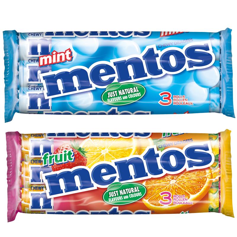 [Rewe] 3er Pack Mentos verschiedene Sorten 0,99€ - 0,50€ Cashback über Scondoo