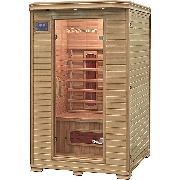 Home Deluxe Infrarotkabine Neu Infrarotsauna Sauna Infrarot Massivholz Hemlock (Plus.de)
