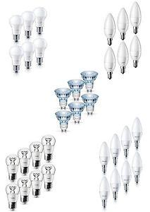Philips LED-Lampen versch. Modelle als 6er Pack und 8er Pack E27/E14/GU10 für 17,95€ inkl. Versand.