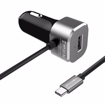 /BangGood/  KFZ Schnell Ladegerät - mit 3A USB-C + 2,4A USB-Buchse / China Direktversand