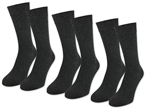 [Amazon Blitzdeal von Händler] 6 Paar Businesssocken 97% veredelte Baumwolle in schwarz, grau melliert oder navy für 16 €