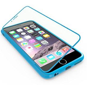 Apple iPhone 6 6S Touch Case TPU-Schutz-Hülle mit Panzerglas Schutzfolie Displayfolie für 1 Euro [Blau]