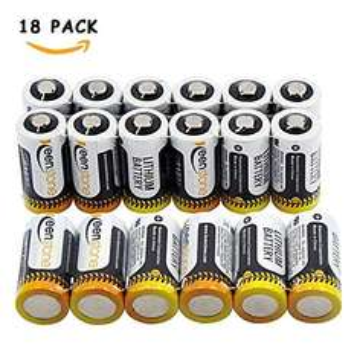 18 Stück CR123A Einweg-Hochleistungs-Lithium Batterien für Taschenlampen, Digitalkamera,  Spielzeug & Co