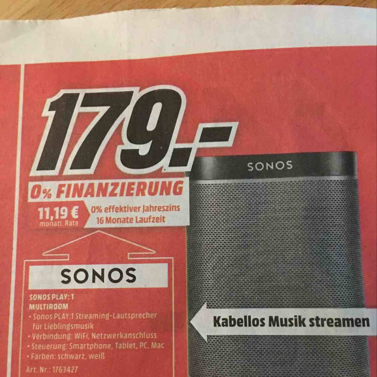 MM Nürnberg & Schwabach: Sonos Play: 1