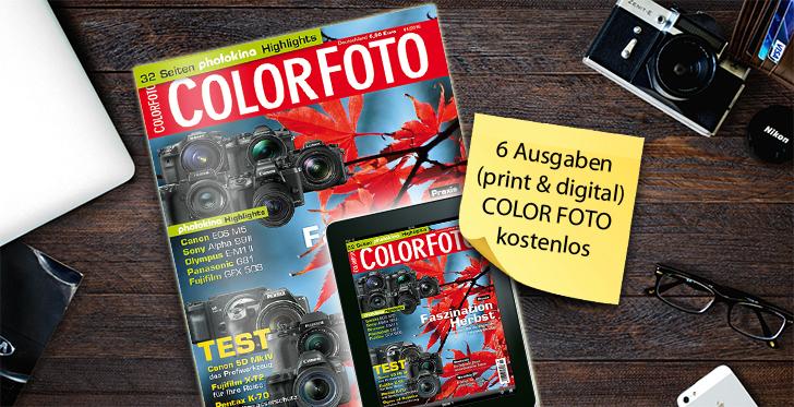 magclub: 6x Zeitschrift COLORFOTO gratis