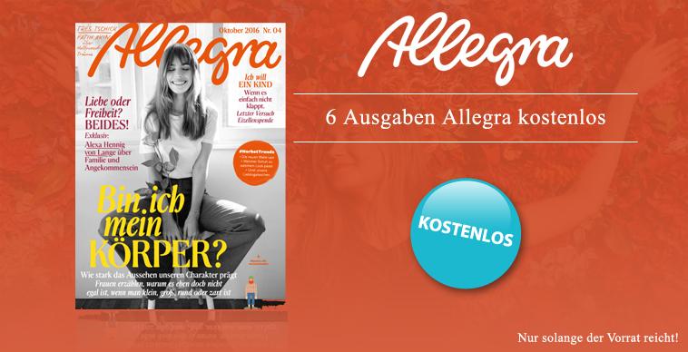 magclub: ALLEGRA Jahresabo (6 Hefte) gratis